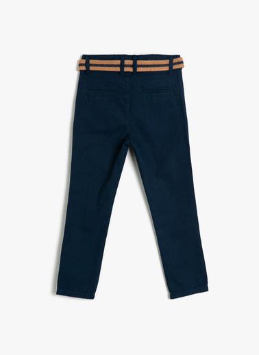 Koton Kids Cep Detayli Pantolon Mavi